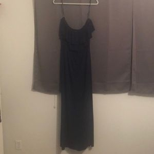 Suzi chin blue strapless maxi dress size 8